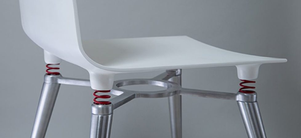Skoki Chair – a drunken chair by designer Michael Kushner