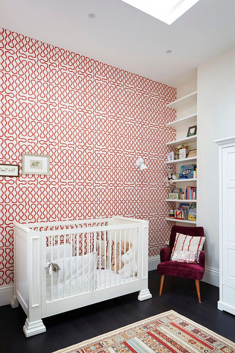 Stylish design of the three-storeyed residence in London - Two children's rooms are decorated in a simple way