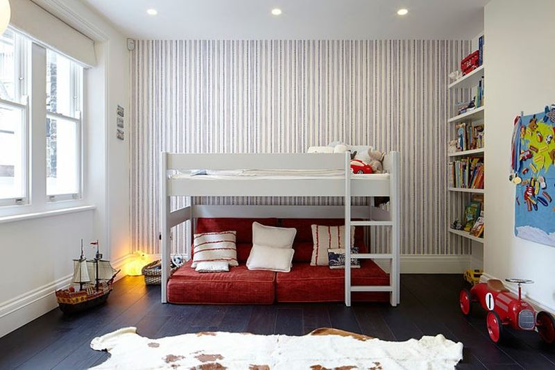 Stylish design of the three-storeyed residence in London - children's rooms - only user-friendly, organic materials