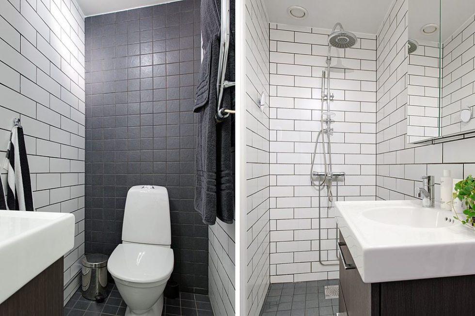 The Delightful Design of the Studio Flat Scandinavian Style - Bathroom