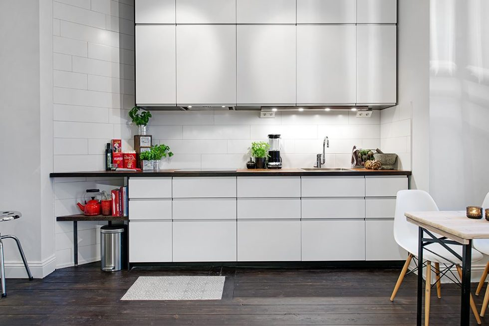 The Delightful Design of the Studio Flat Scandinavian Style - Kitchen 2