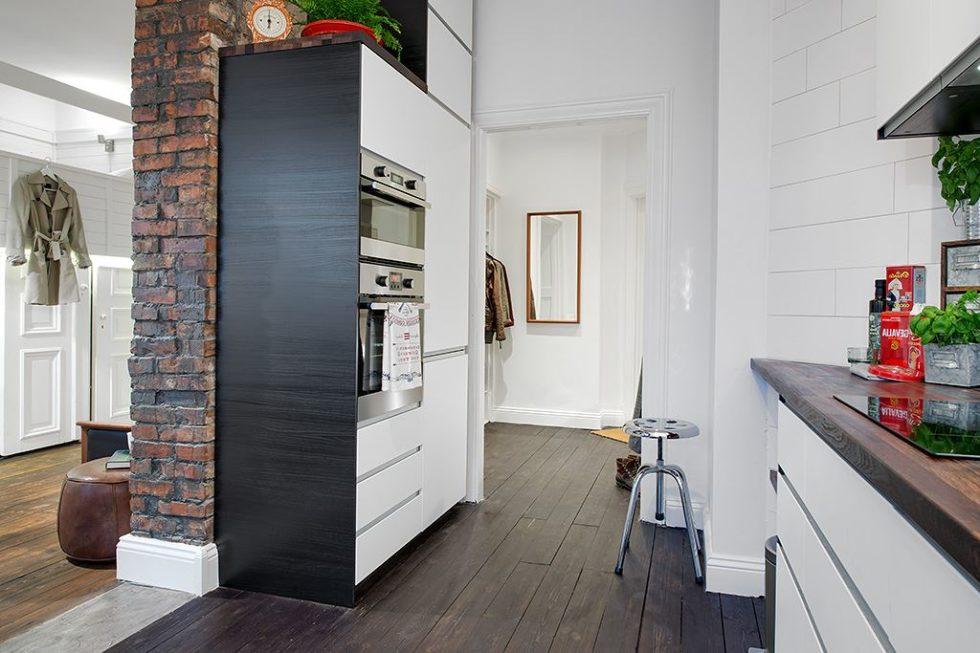 The Delightful Design of the Studio Flat Scandinavian Style - Kitchen 3