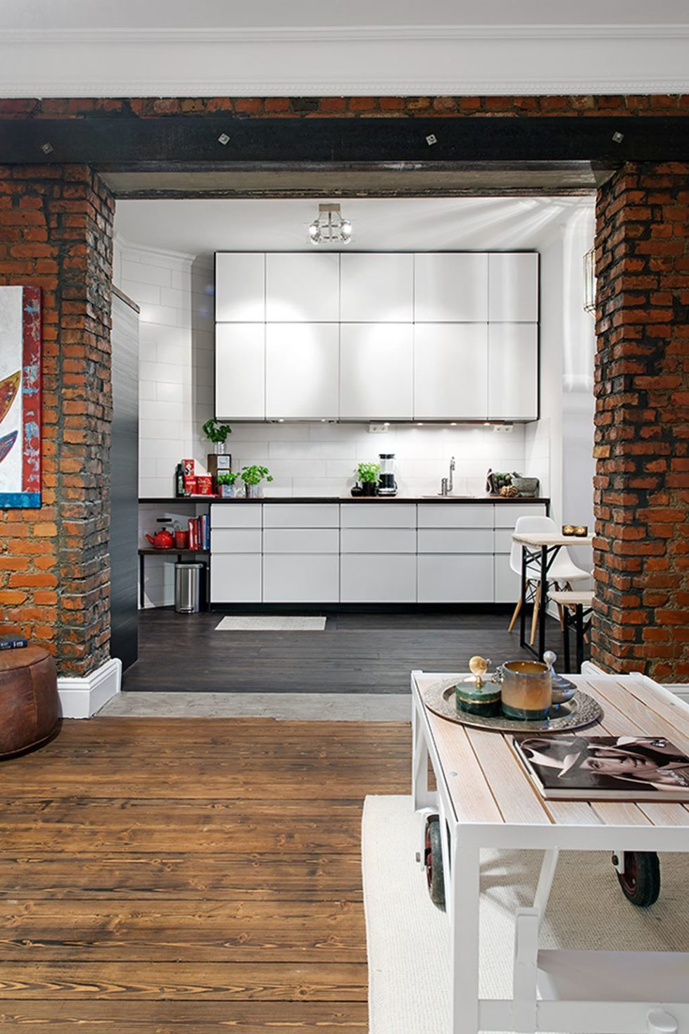 The Delightful Design of the Studio Flat Scandinavian Style - Kitchen 4