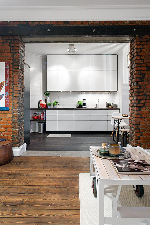 delightful design of the studio flat scandinavian style