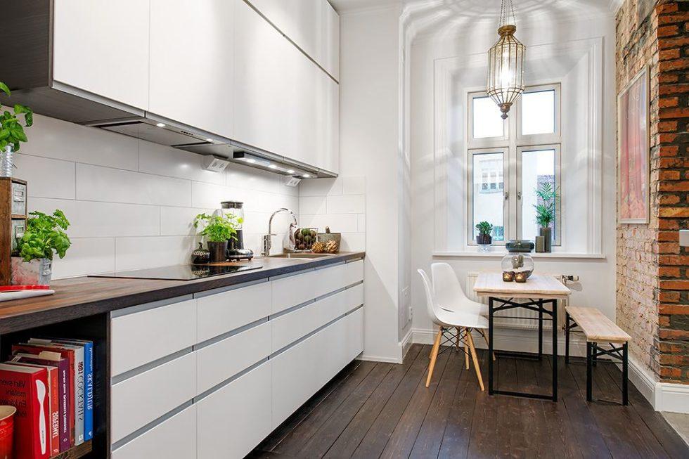 The Delightful Design of the Studio Flat Scandinavian Style - Kitchen