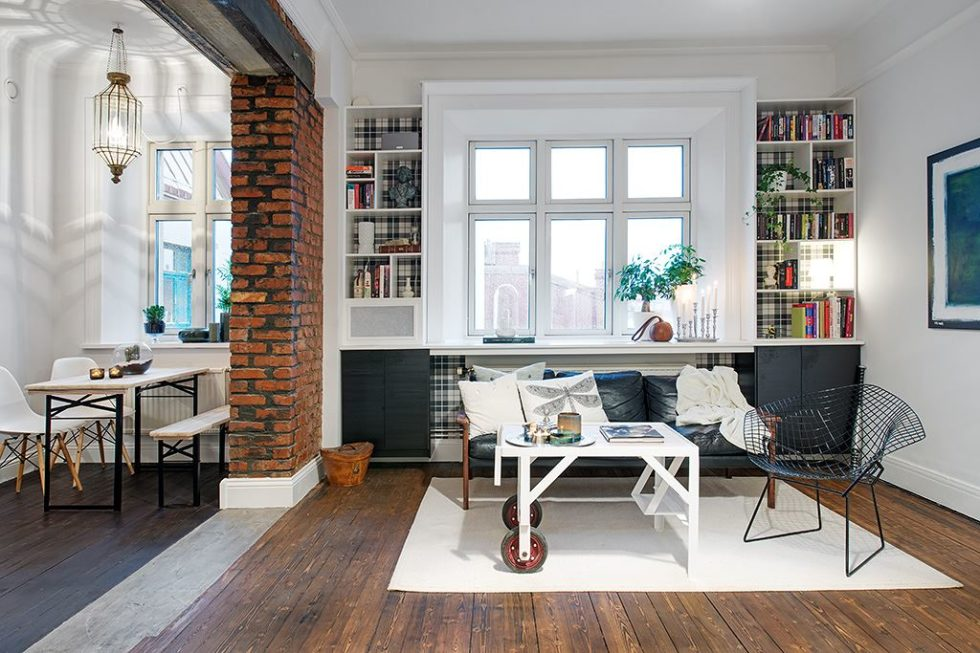 The Delightful Design of the Studio Flat Scandinavian Style - Living room and Kitchen