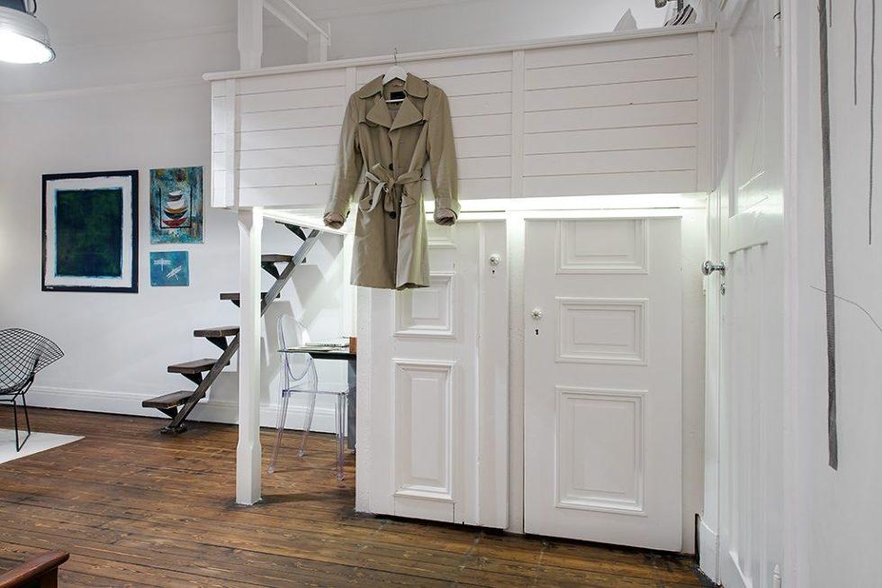 The Delightful Design of the Studio Flat Scandinavian Style - The sleeping area