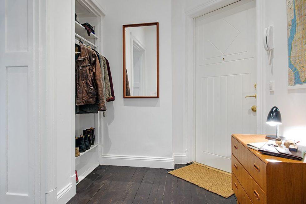 The Delightful Design of the Studio Flat Scandinavian Style - hall 2