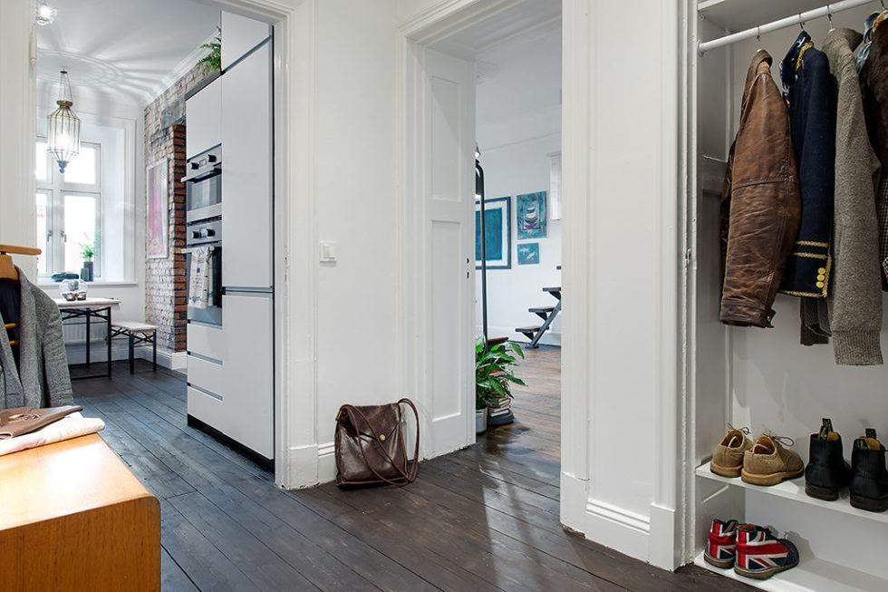 The Delightful Design of the Studio Flat Scandinavian Style - hall