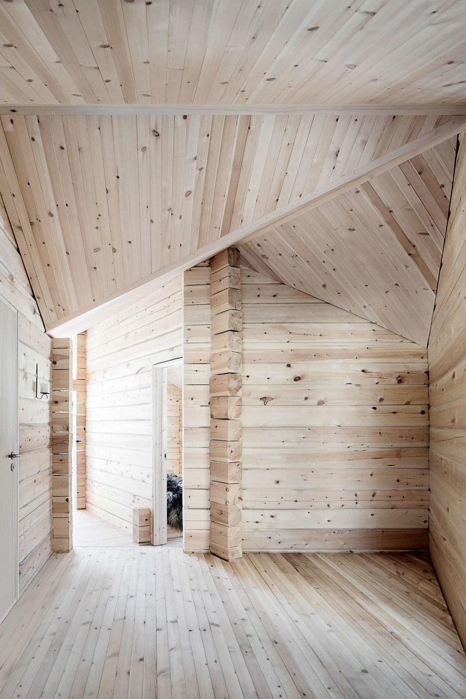 The wooden house in Norway - interior