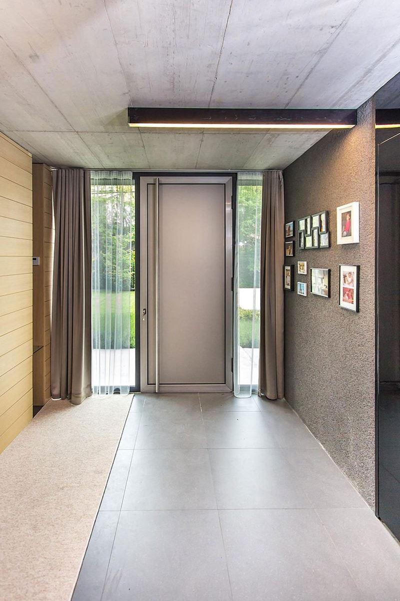 This modern three-story house - hallway