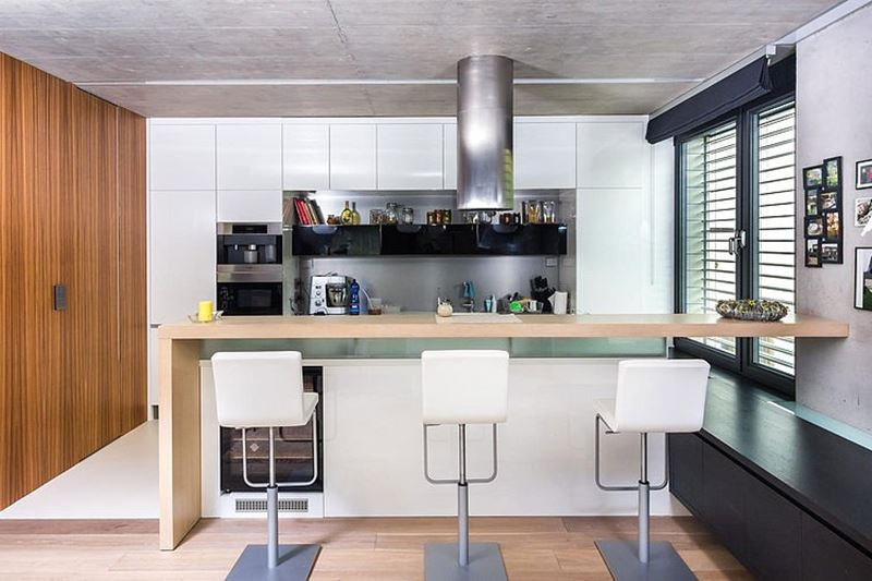 This modern three-story house - kitchen