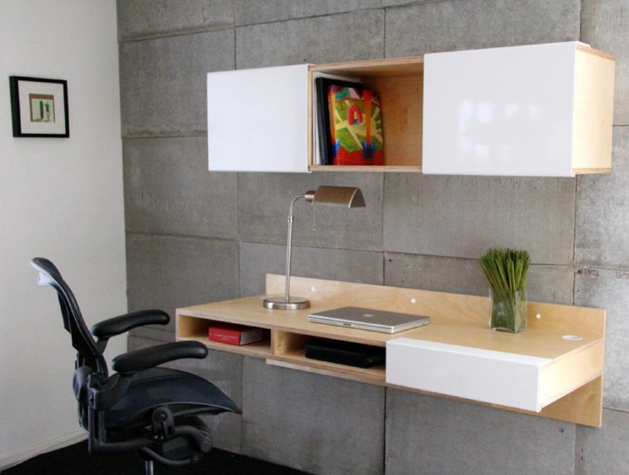 What is a wall mounted laptop desk and where do you put it