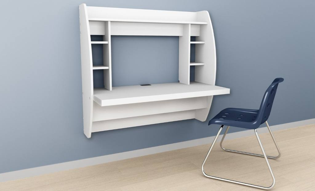 What is a wall mounted laptop desk and where do you put it?