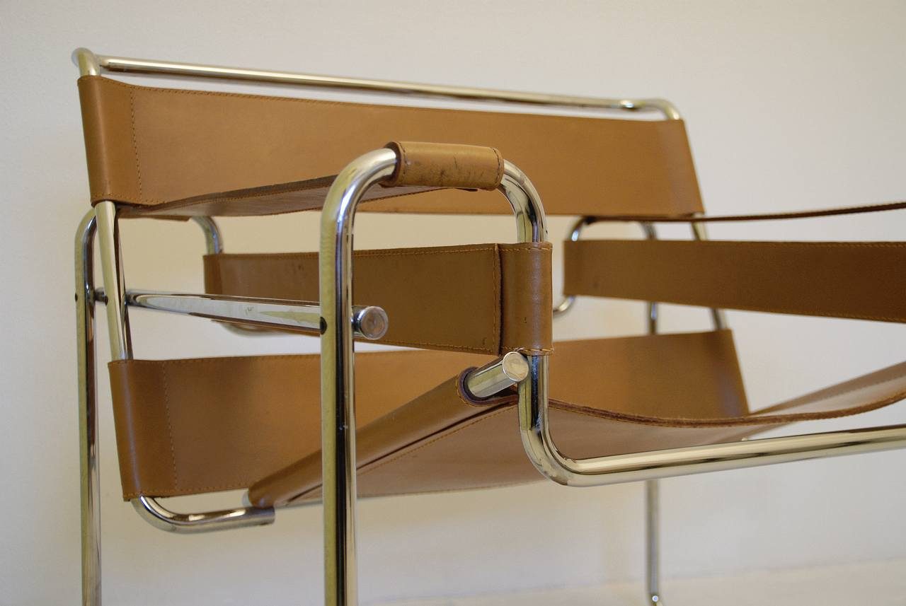 Fabulous Wassily arm-chair, designed by Marcel Breuer, Knoll