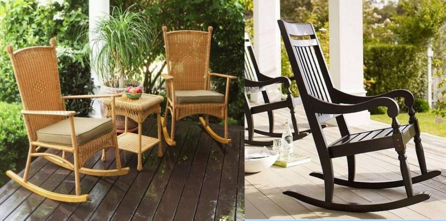 Wooden outdoor Rocking-Chair