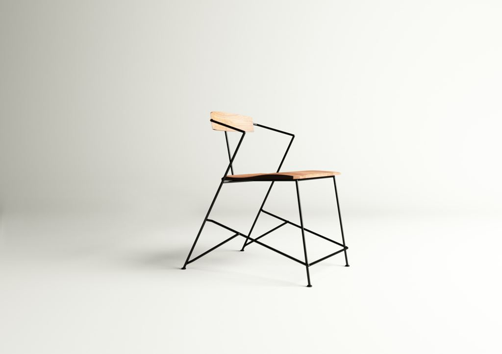 power the minimalist and industrial chair