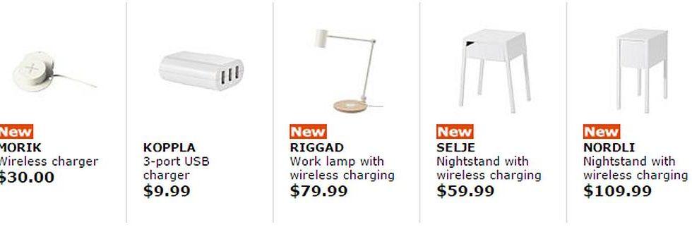 IKEAStartsSaleOfWireless ChargedFurniture