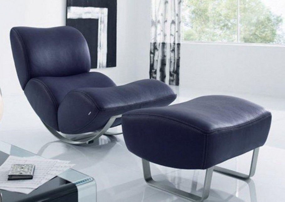 modern rocking-chair with soft leather