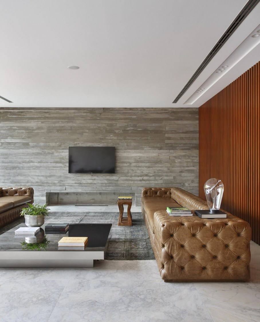 AN House From Studio Guilherme Torres - Living room