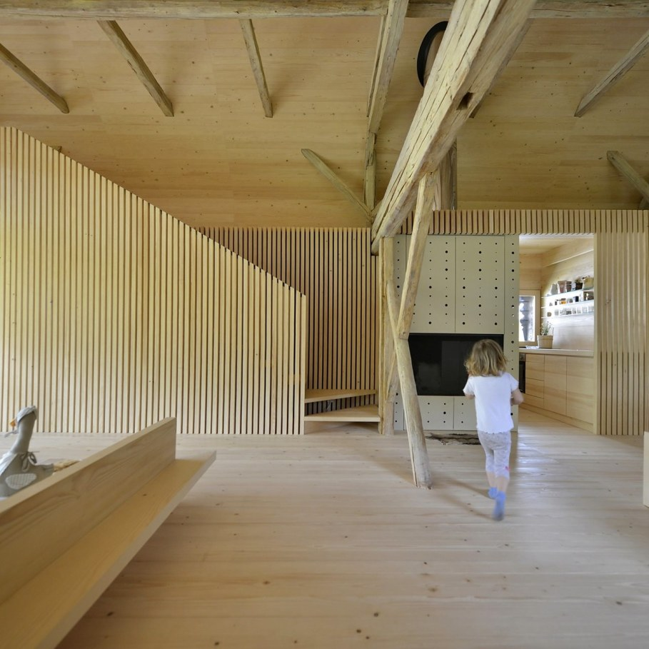 Alpine Barn Apartment from OFIS Architects - Living room 3