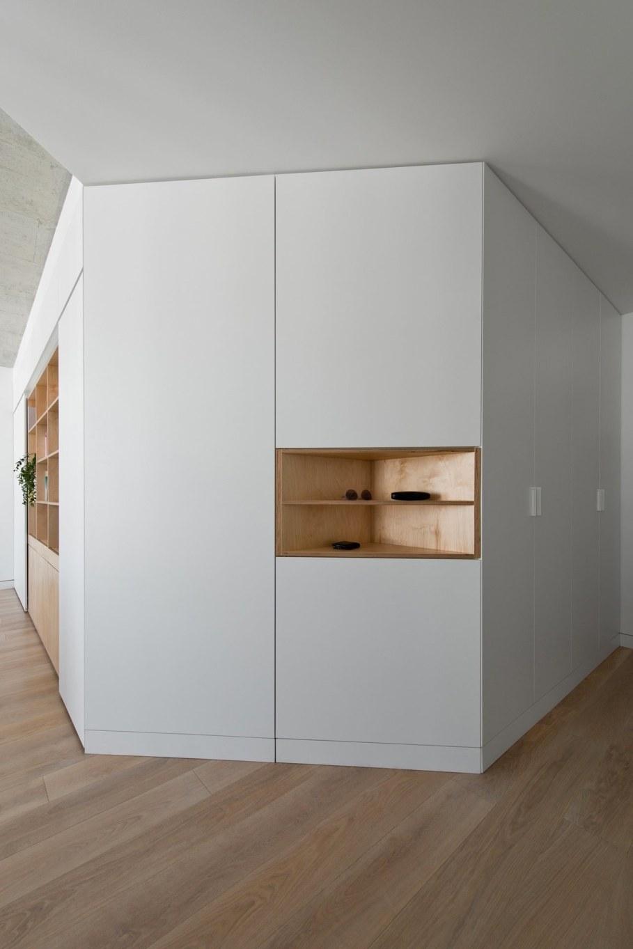 Apartment In Vilnius from Normundas Vilkas - oak floor and uncluttered furniture