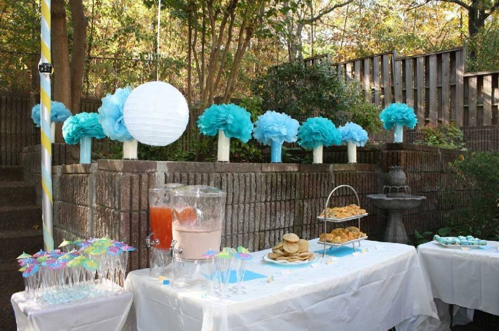 Ideas for baby boy shower decorations for Baby shower decoration sets