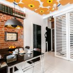 Bright and stylish interior of the apartment in Warsaw