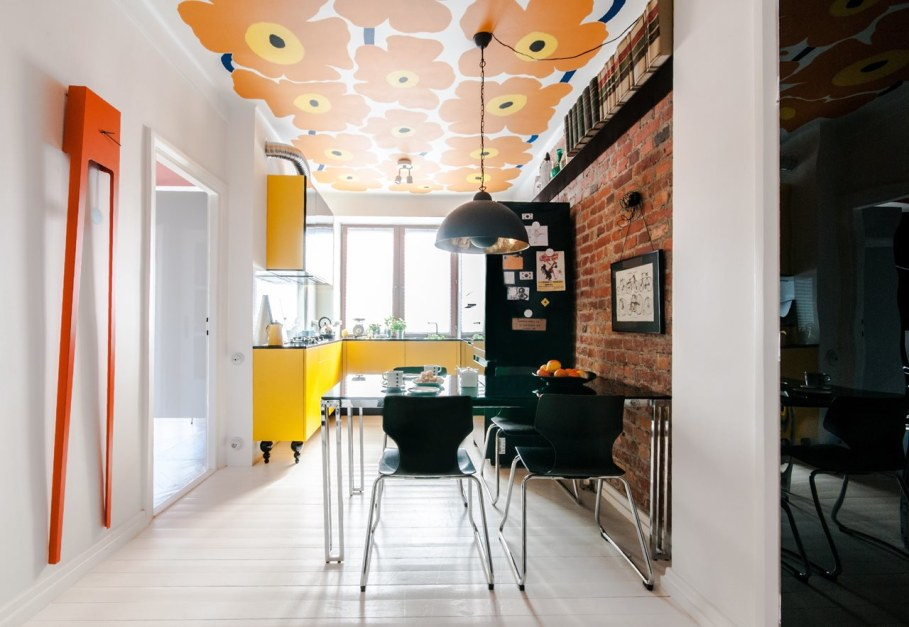 Bright and stylish interior of the apartment in Warsaw - Dining room