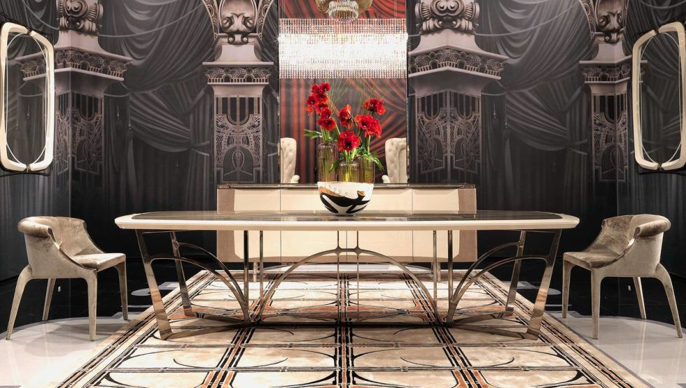 Chairs Margaret, dining table Bullock - designers Roberto and Maurizio Manzoni Tapinassi, Visionnaire