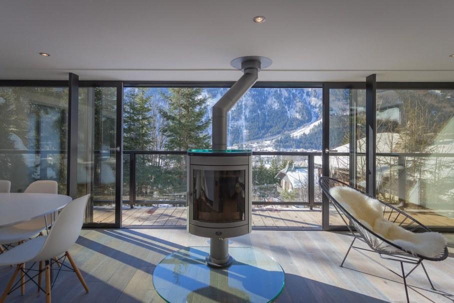 Chalet Dag in Chamonix - Fireplace