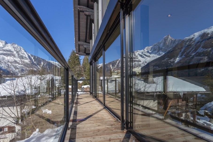 Chalet Dag in Chamonix - Sliding glass doors