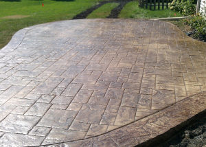 Decorative concrete flooring