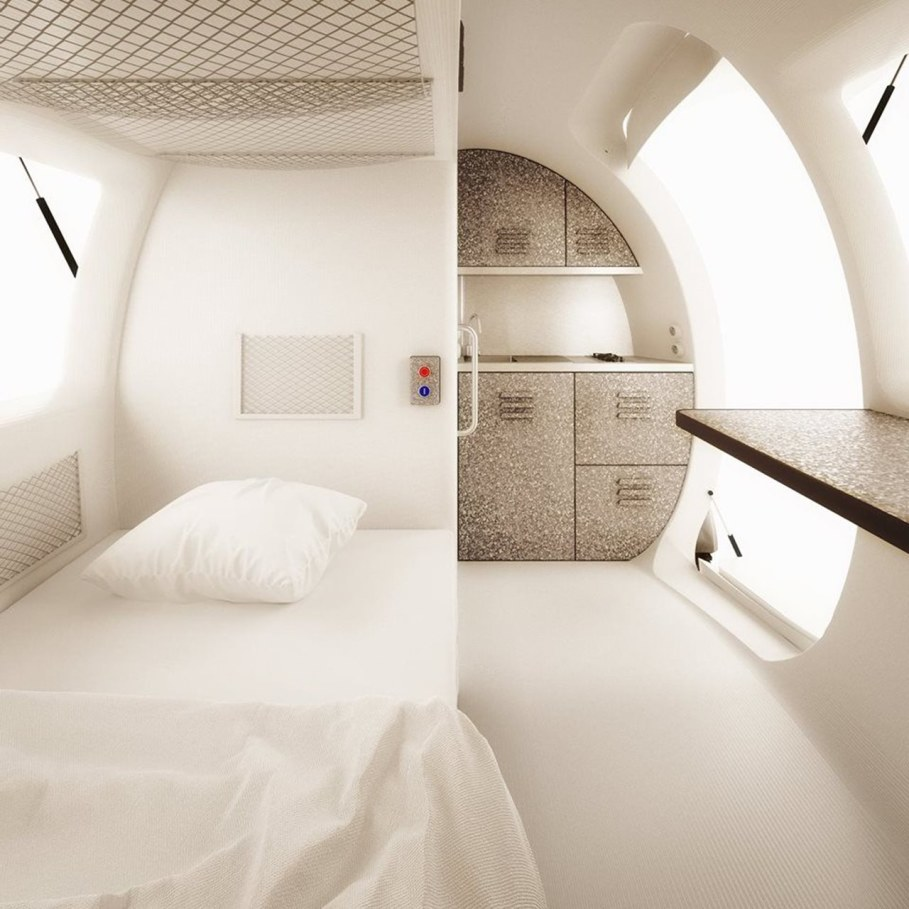 Ecocapsule from Nice Architects - Interior