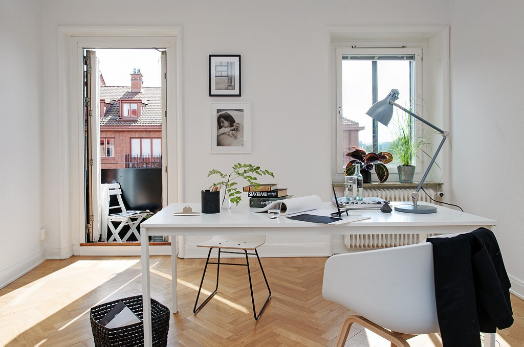 design ideas of home office in scandinavian style