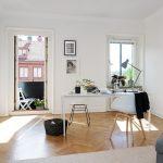 Design ideas of home office in Scandinavian style