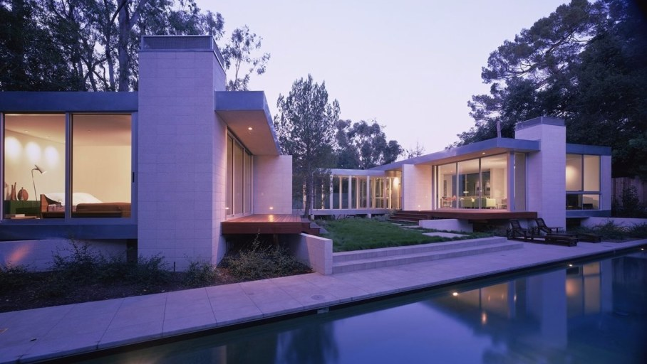 House in Los Angeles from Marmol Radziner - Swimming pool