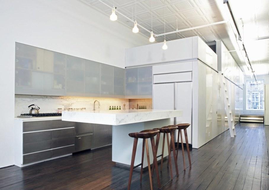 Loft of 300 square meters in new york for New york loft kitchen design