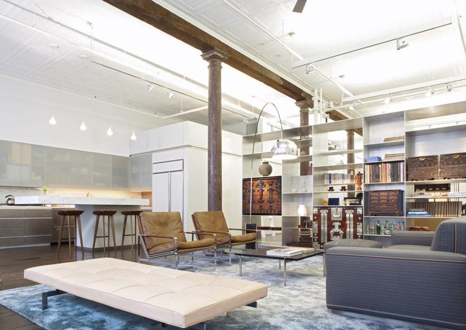 Loft Of 300 square meters in New York - Living room