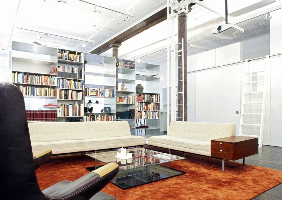 Loft Of 300 square meters in New York - Living room interior