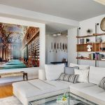 Modern apartment with three bedrooms decorated in eclectic style