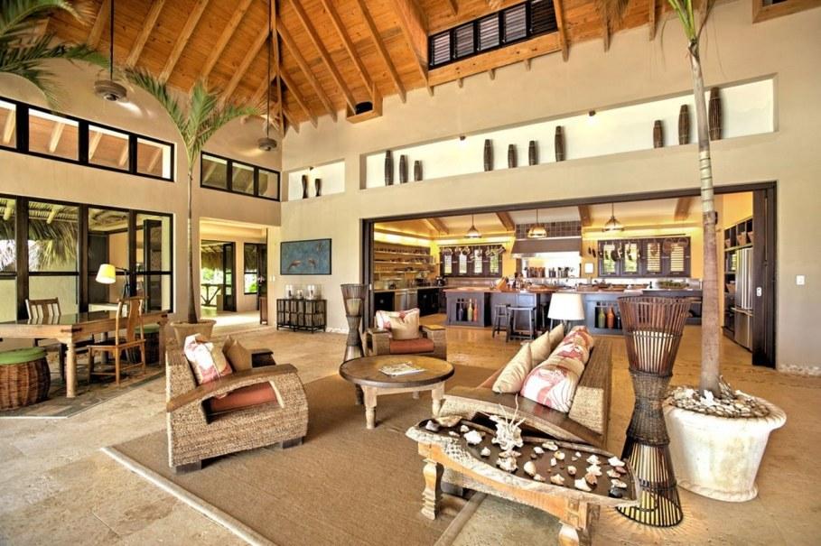Onshore Villa At The Dominican Republic - Living room