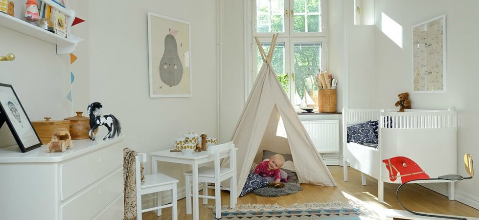 Scandinavian Styled Children S Room Nursery Design
