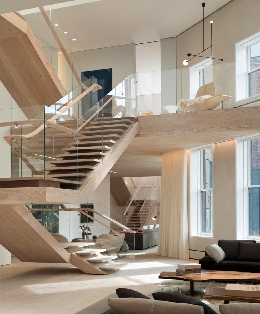 Scandinavian loft in Soho from Gabellini Sheppard Associates - Living room design ideas