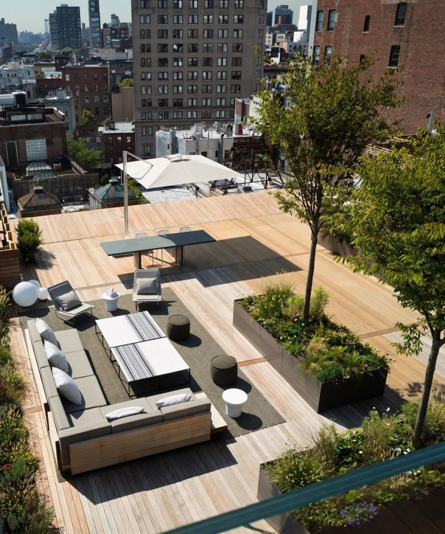 Scandinavian loft in Soho from Gabellini Sheppard Associates - Outdoor terrace
