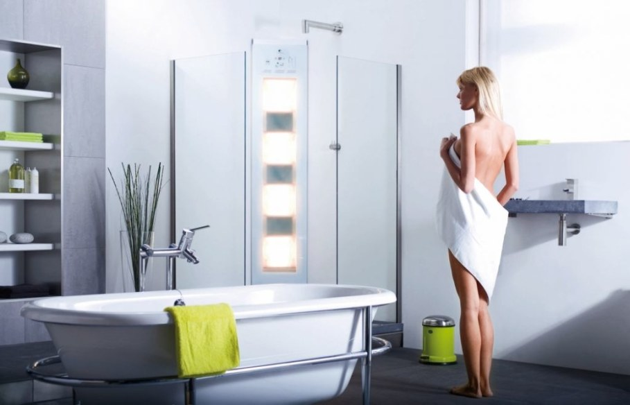 Sunshower releases a low amount of UV light