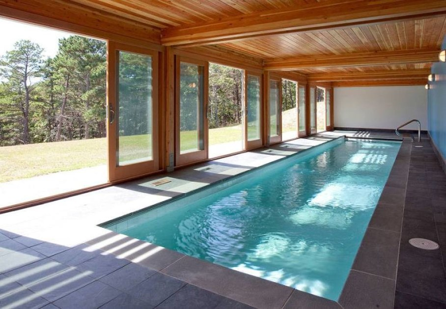 Swimming pool design ideas - with sliding walls