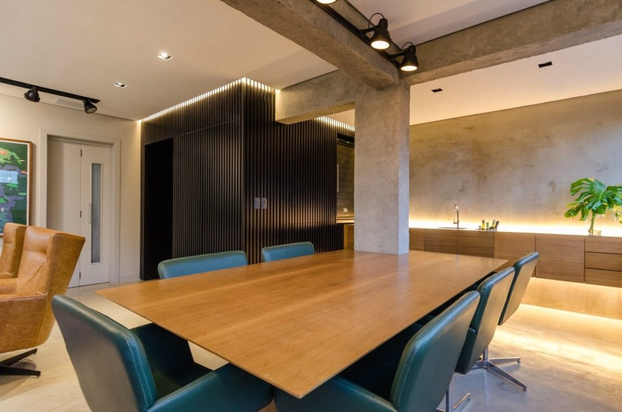 Apartment for a young couple in Brazil - Kitchen and dining table