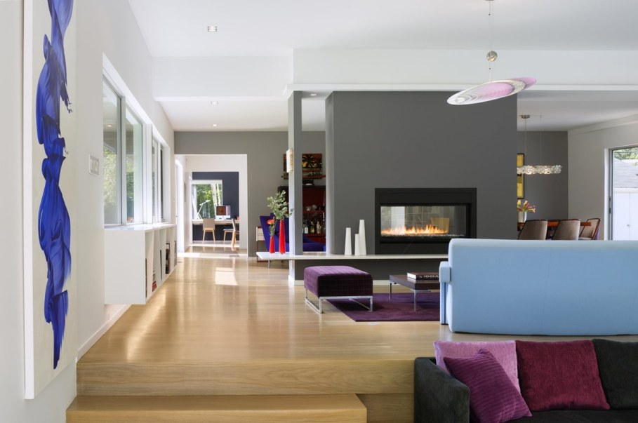 Colonial house from Fougeron Architecture studio - Living room design ideas