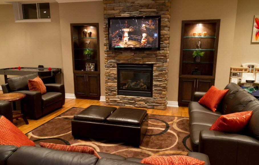 Decorate the zone around the fireplace - Create a masterpiece at the design stage
